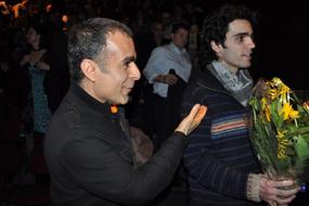 بهمن قبادی در کنار شروین نجفیان؛ عکسها؛ رحمان جوانمردی